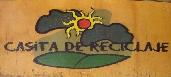 letrero Casita de reciclaje